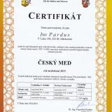 Certifikát Český med