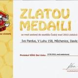 Zlatá medaile v soutěži Český med 2016 - med medovicový